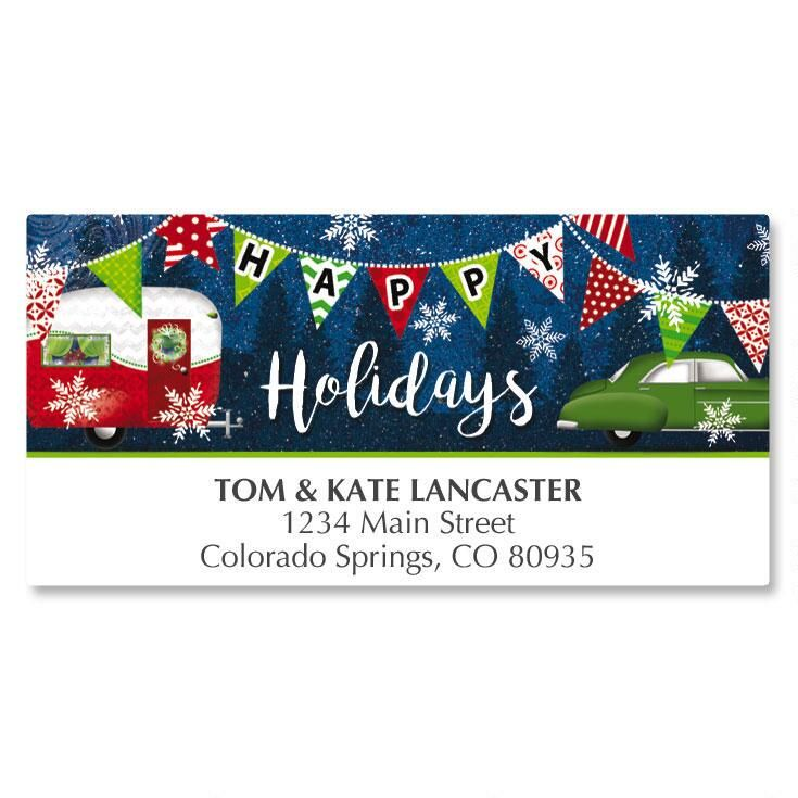 Holiday Camper Deluxe Address Labels