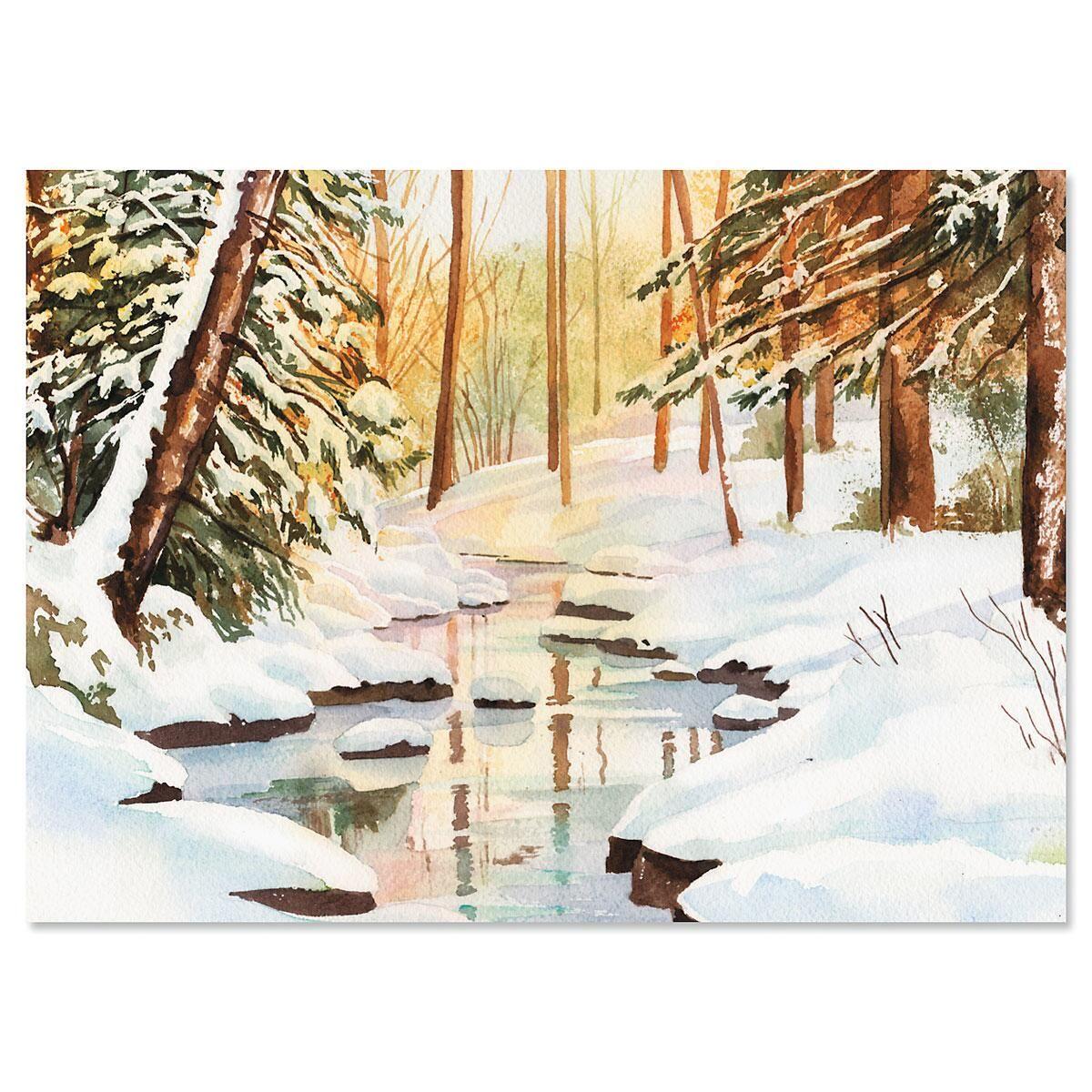 Winterwood Scene Christmas Cards