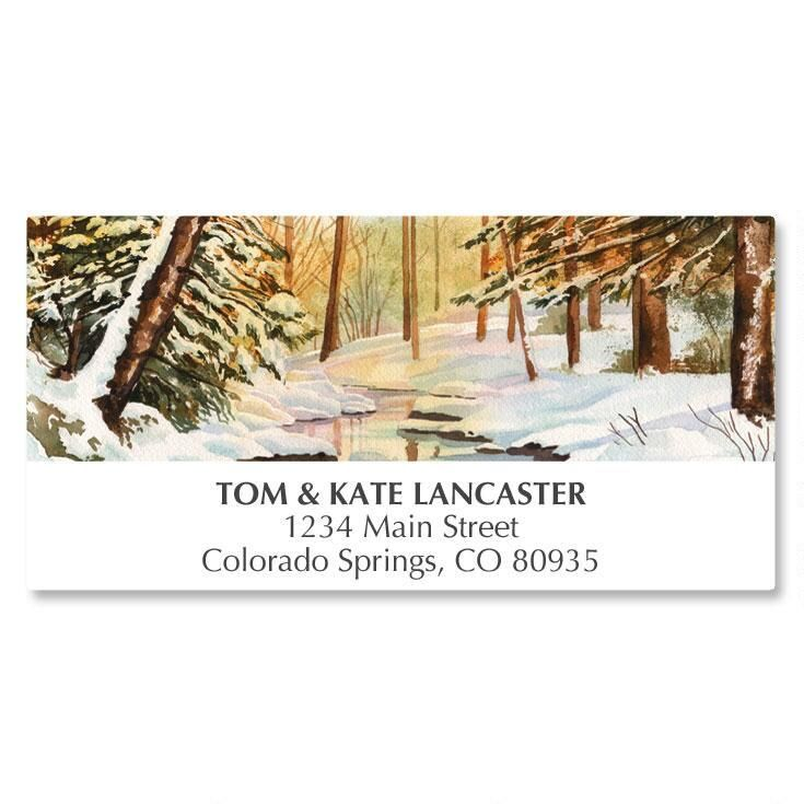 Winterwood Scene Deluxe Address Labels