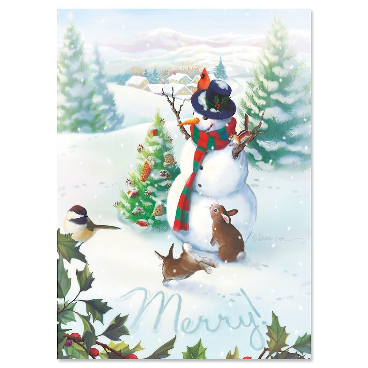 Merry Snowman Christmas Cards