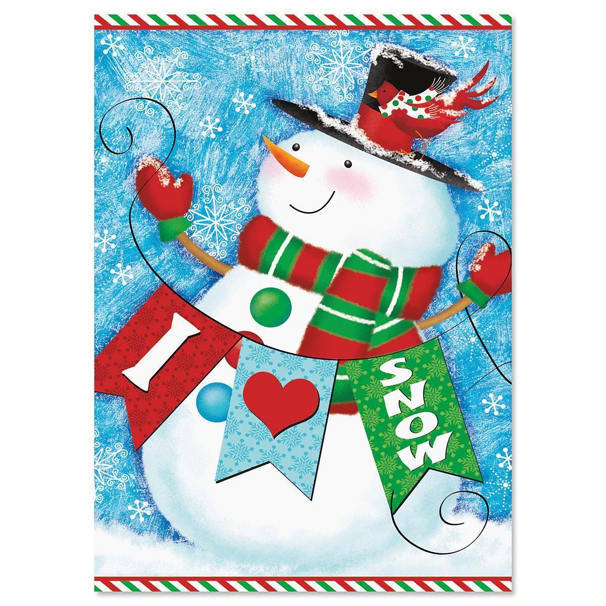 Snowman Love Christmas Cards