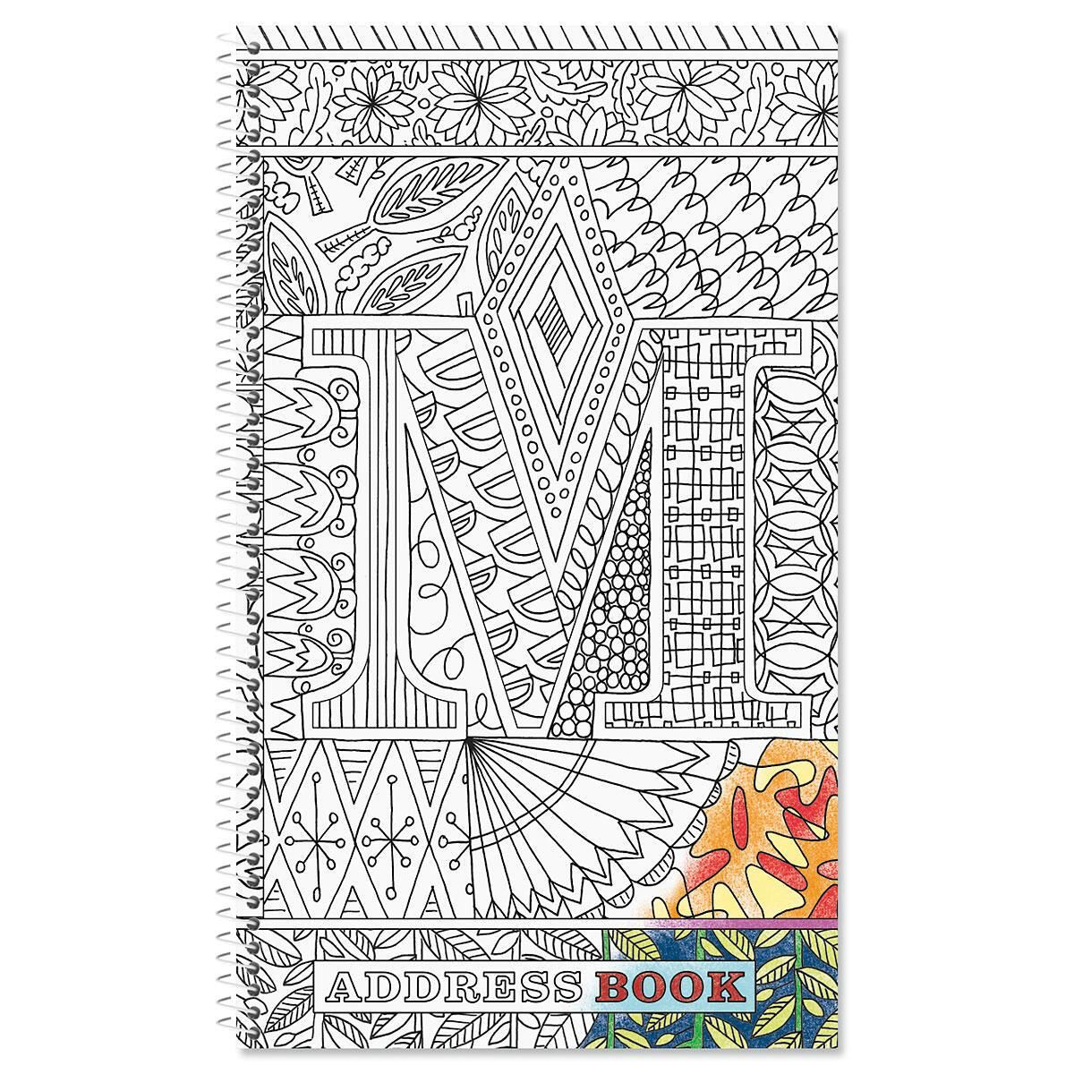 Book Covering Contact Kmart ~ Monogrammed coloring cover address book current catalog