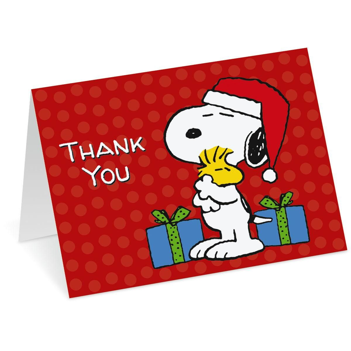 PEANUTS® Christmas Thank You Note Cards