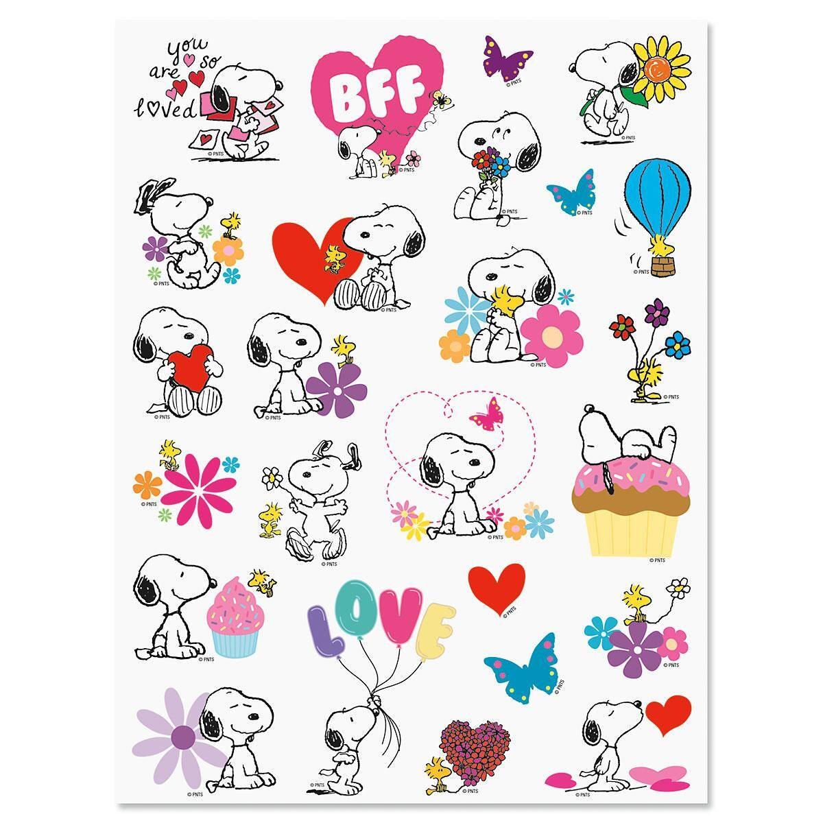 PEANUTS® Love & Heart Stickers