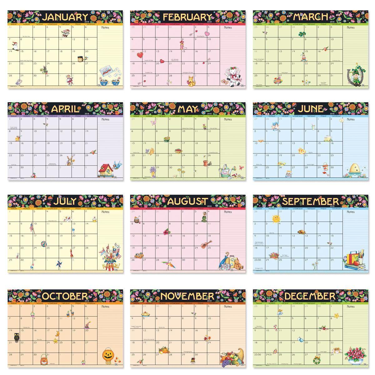 Mary Engelbreit® 2018-2019 Calendar Pad
