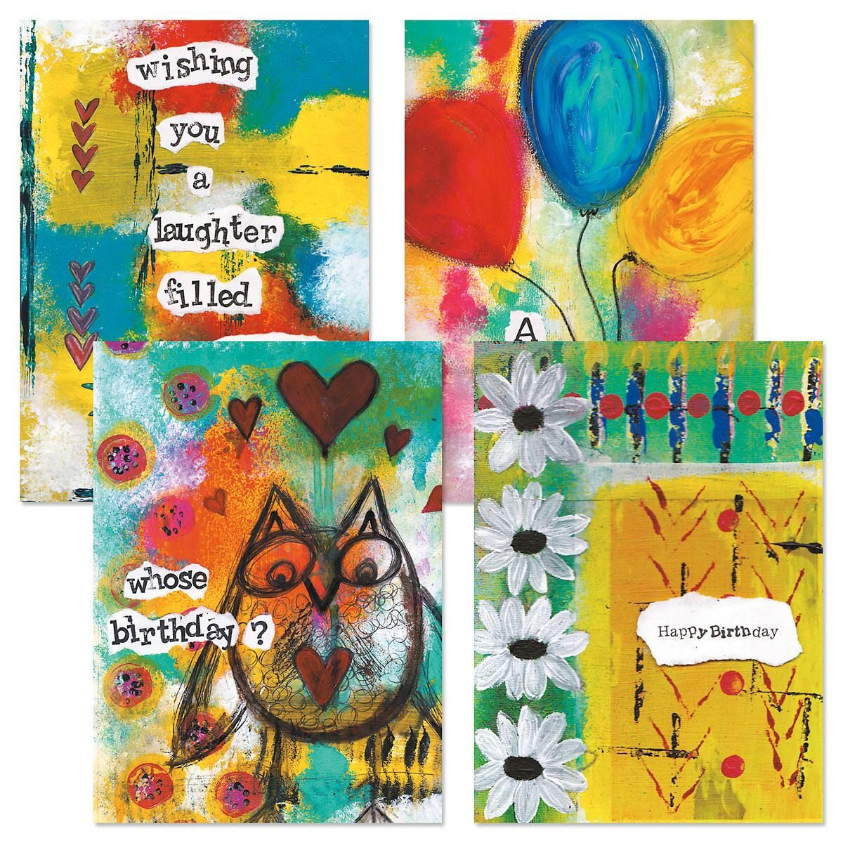 Painterly Birthday Cards