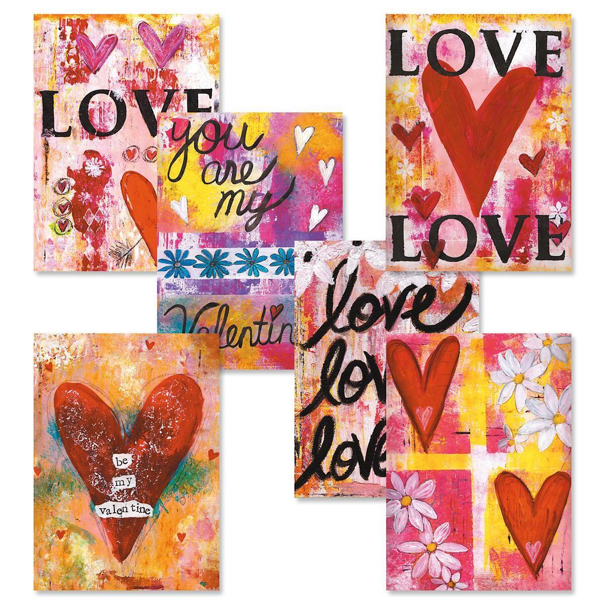 Painterly Valentine Cards