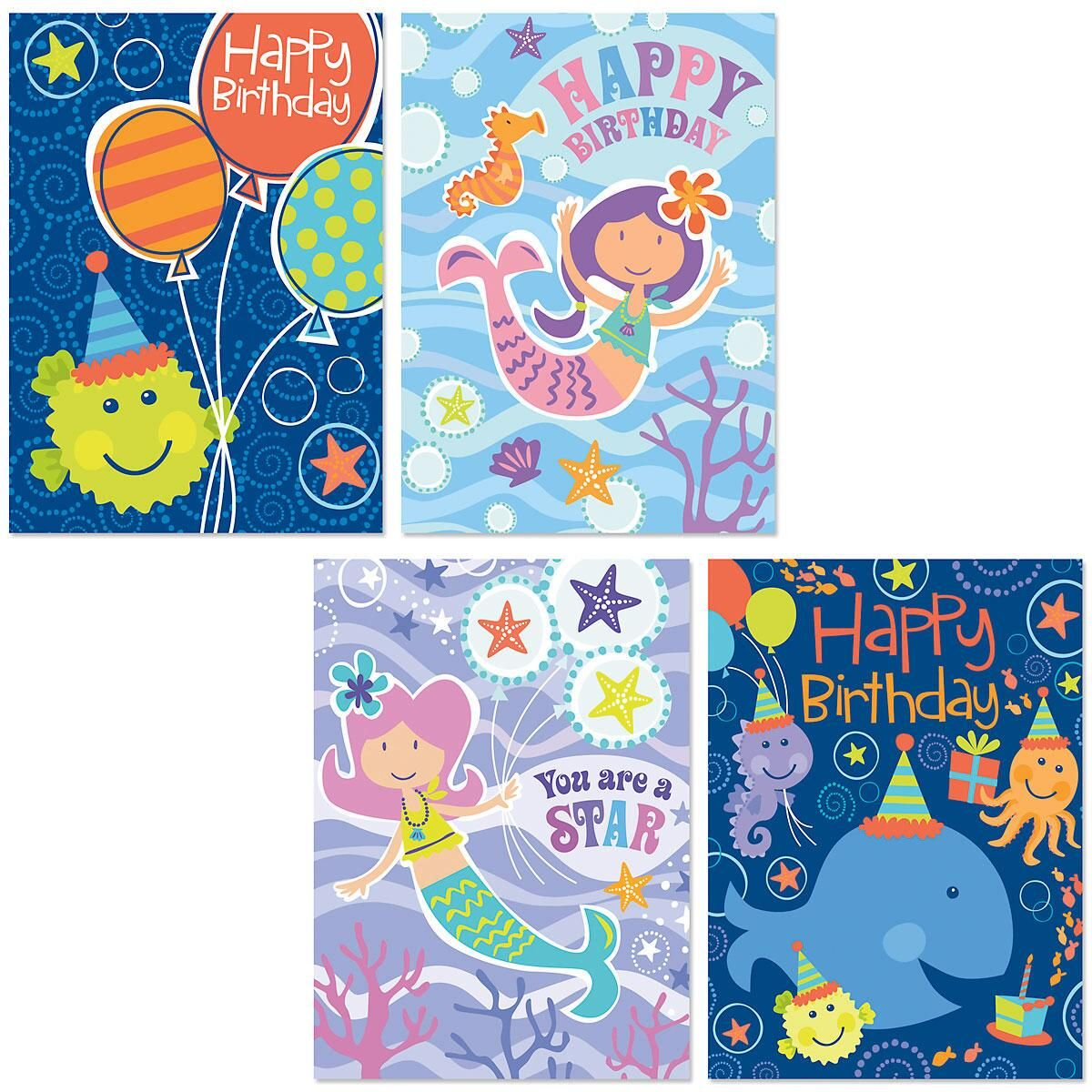 Under the Sea Kids' Birthday Cards