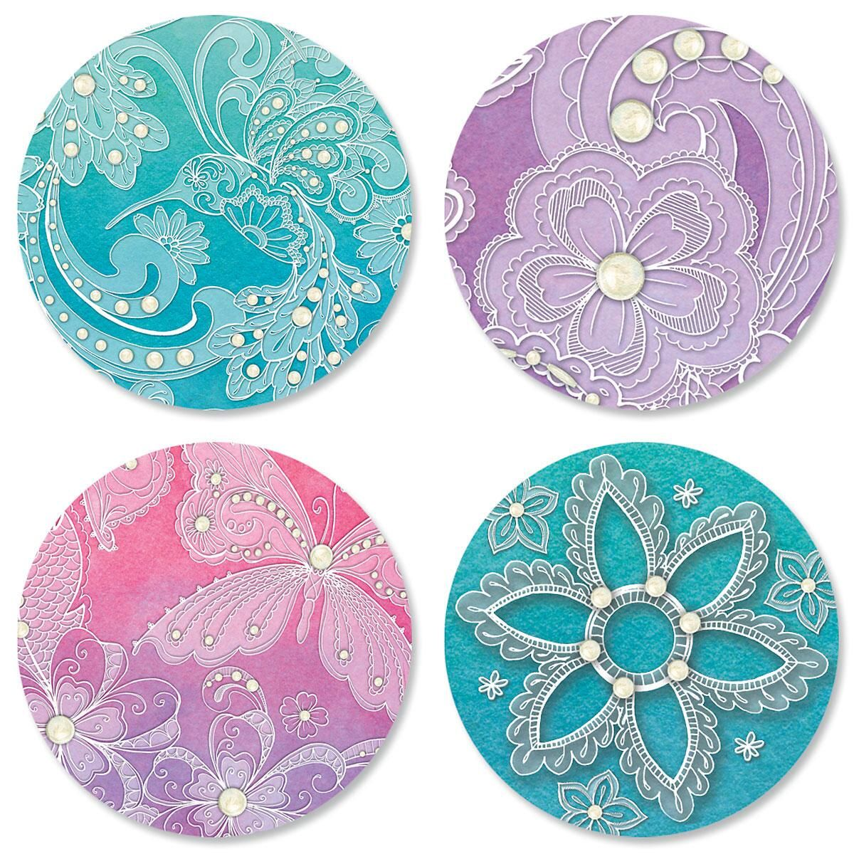 Watercolor Lace Seals
