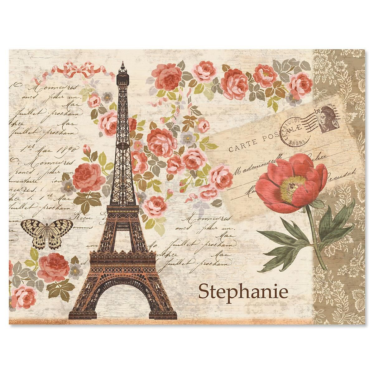 Parisian Postcard Note Cards