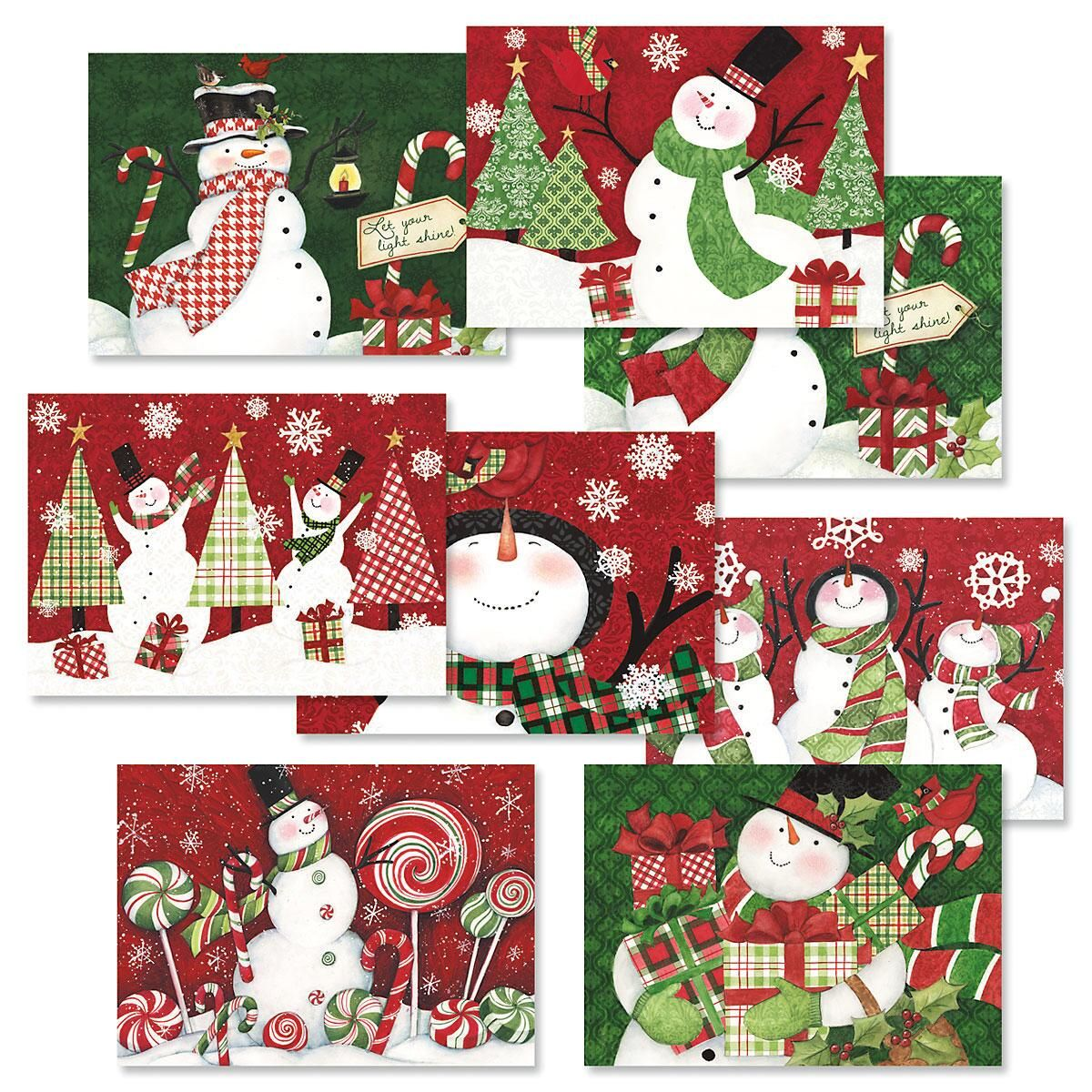 Snowman Christmas Cards Value Pack - Christmas Card Value Packs ...