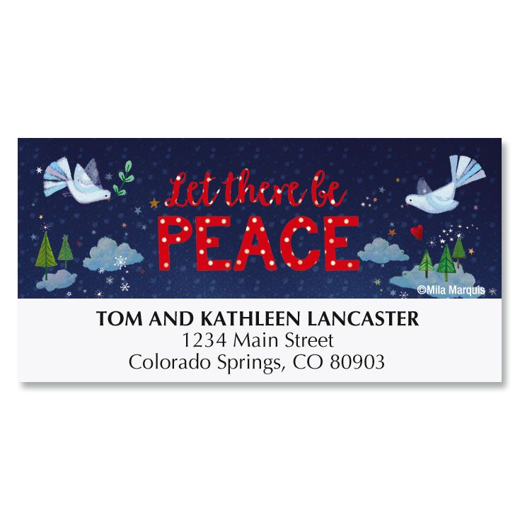 Let There Be Peace Deluxe Address Labels