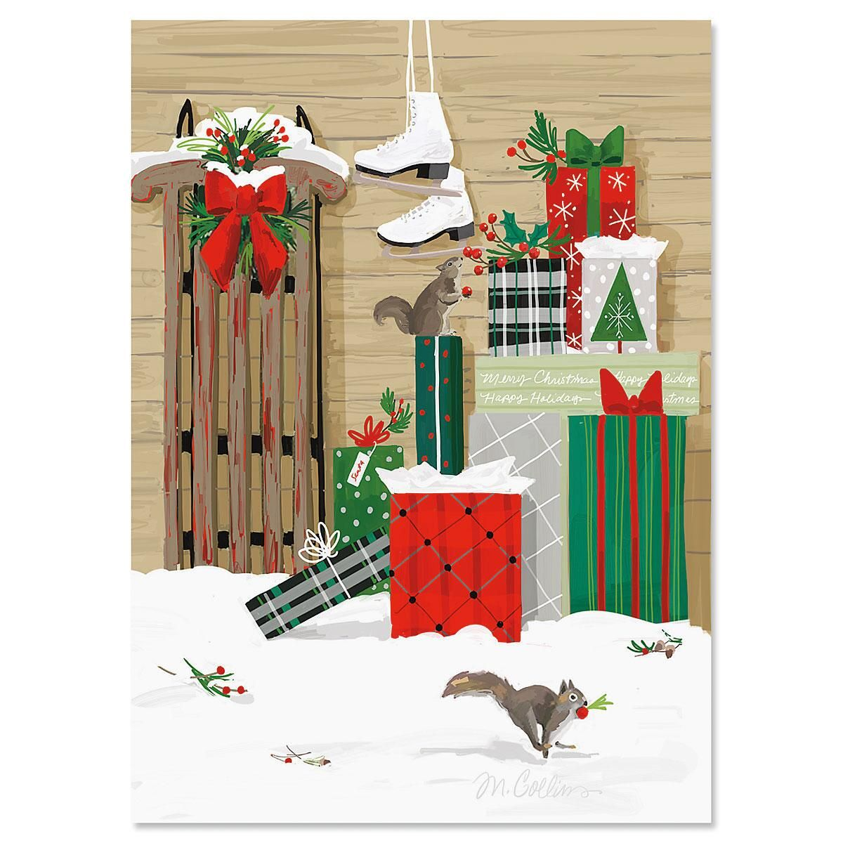 The Gift Personalized Christmas Cards - Set of 18