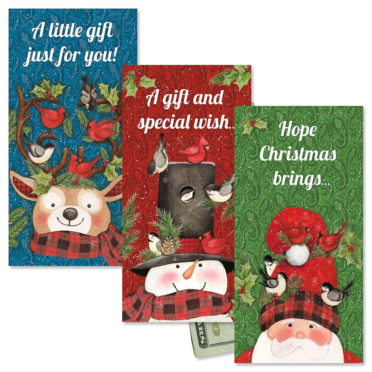 Feathered Friends Money Cards