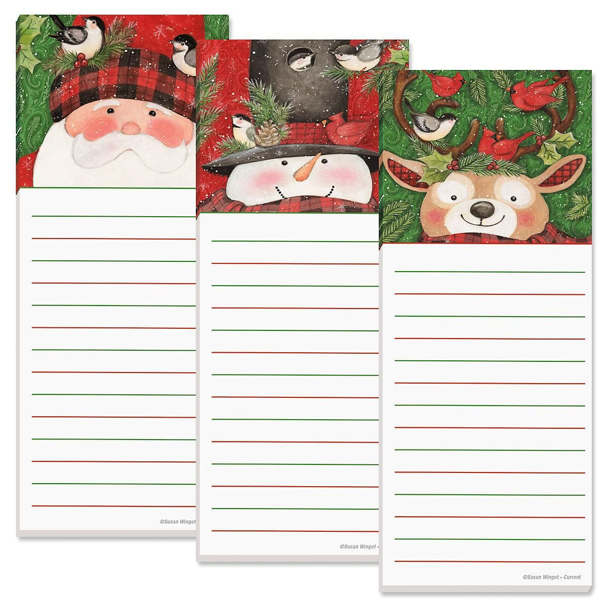 Tall Hat Lined Shopping List Pads