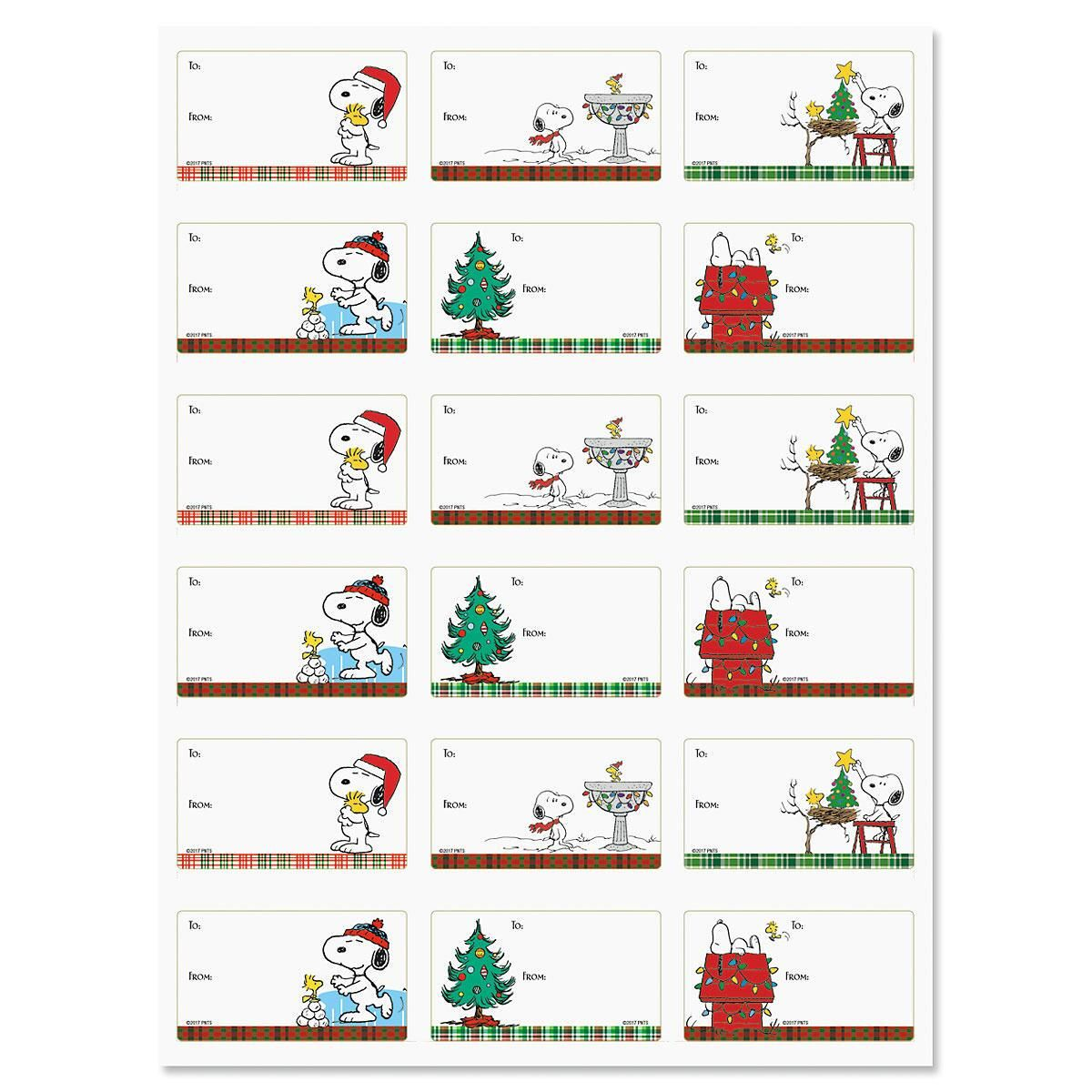 PEANUTS® To/From Christmas Gift Labels