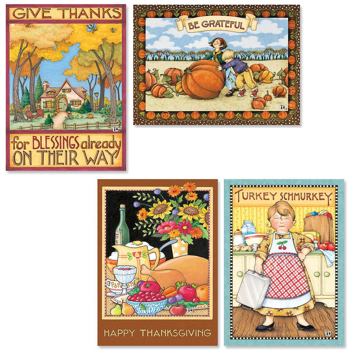Mary Engelbreit Thanksgiving Greetings Cards Thanksgiving Sale