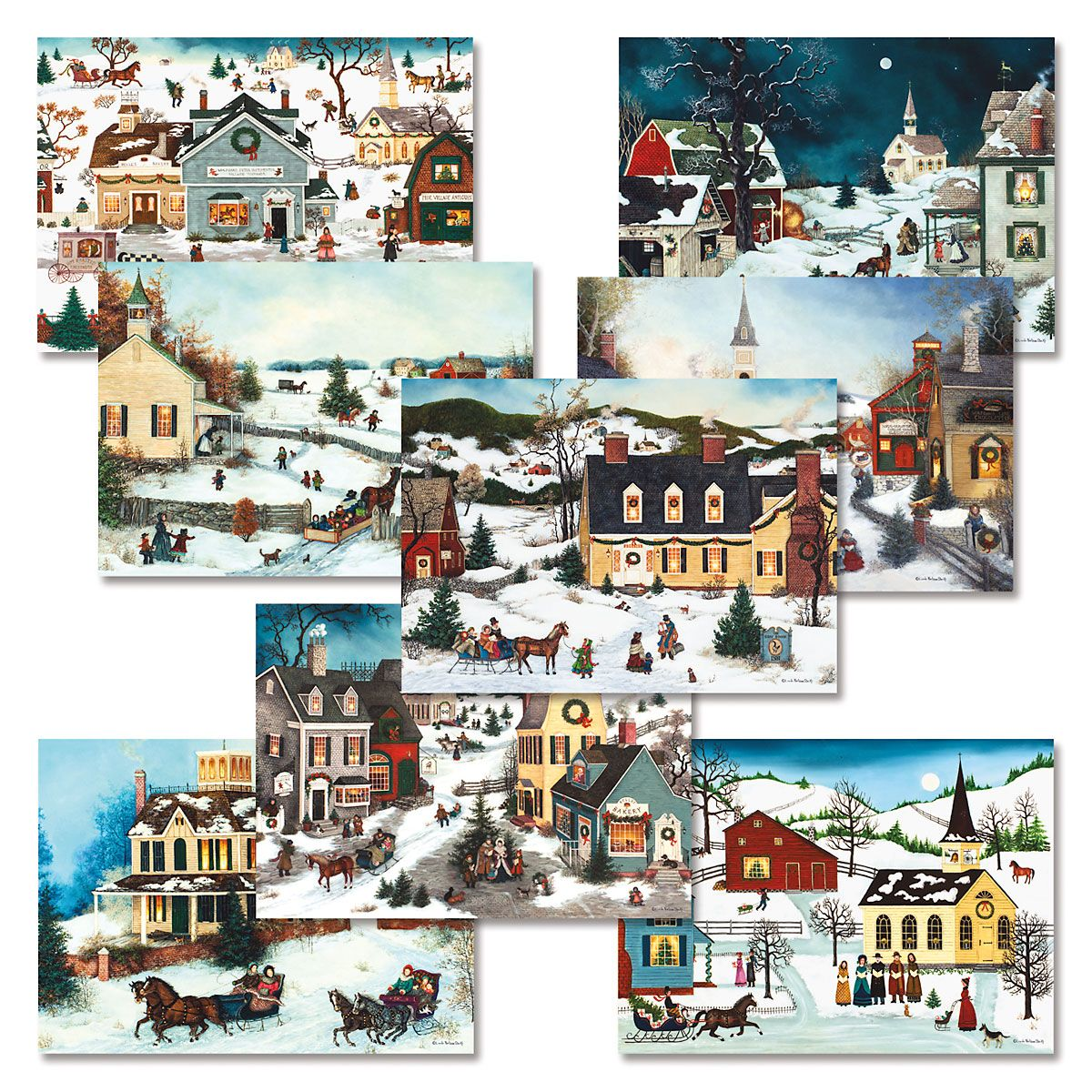 Christmas Town Christmas Card Value Pack