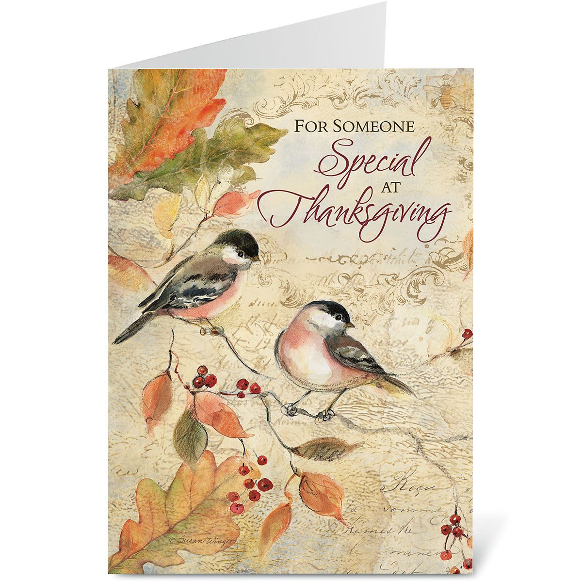 Chickadee Thanksgiving Greeting Cards - BOGO