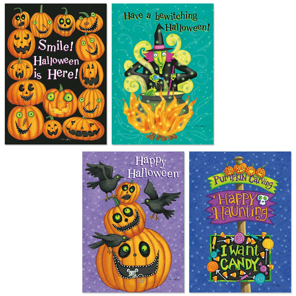 Halloween Smile Greeting Cards