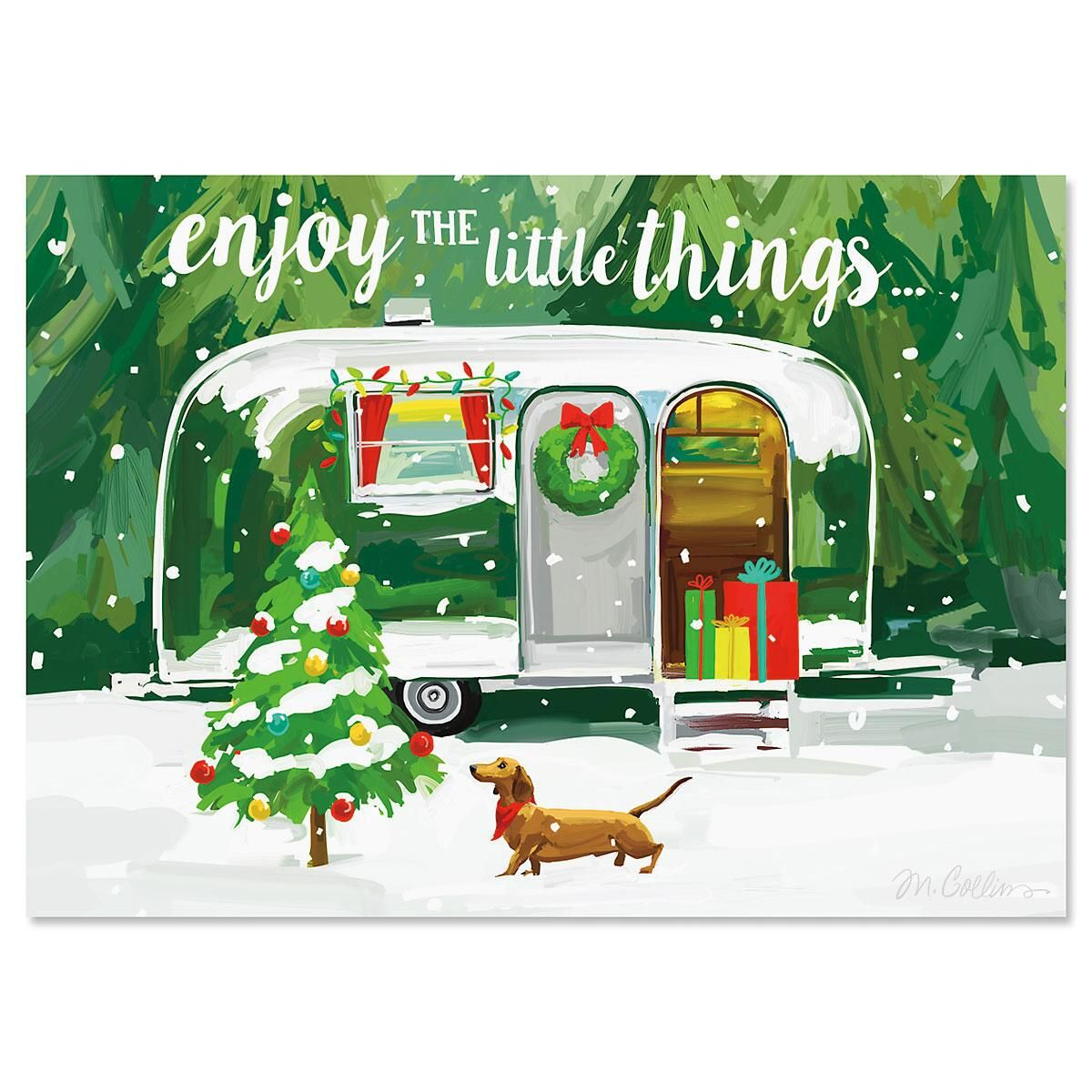 Christmas Getaway Personalized Christmas Cards - Set of 72