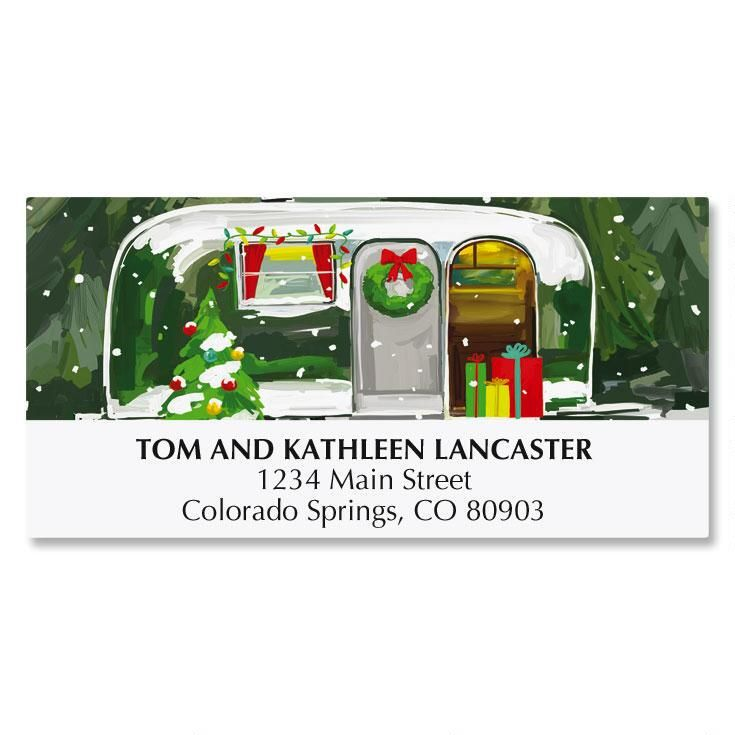 Christmas Getaway Deluxe Address Labels