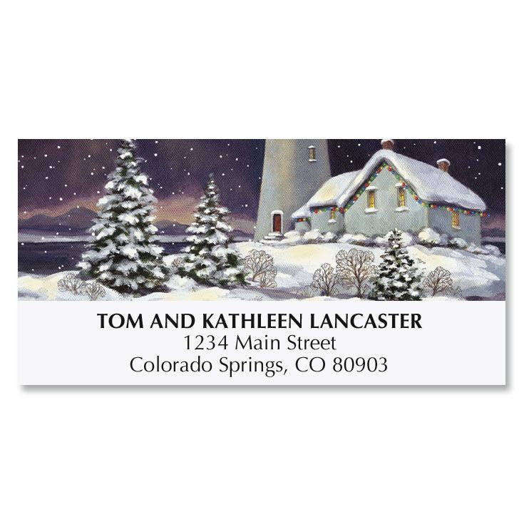 December Light Deluxe Address Labels