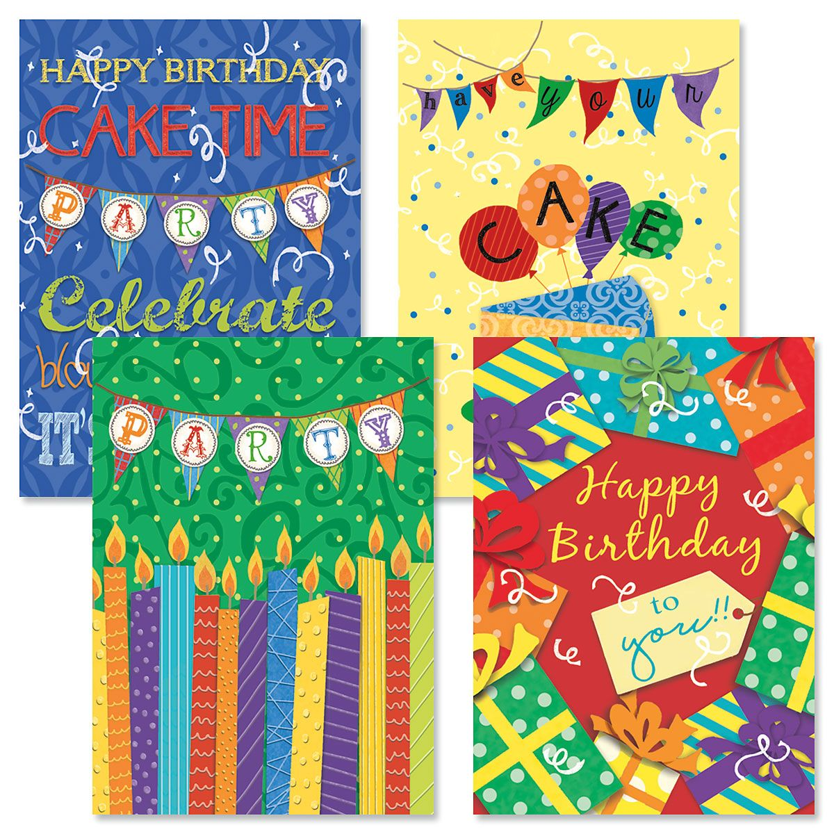 Chalkboard Birthday Cards and Seals