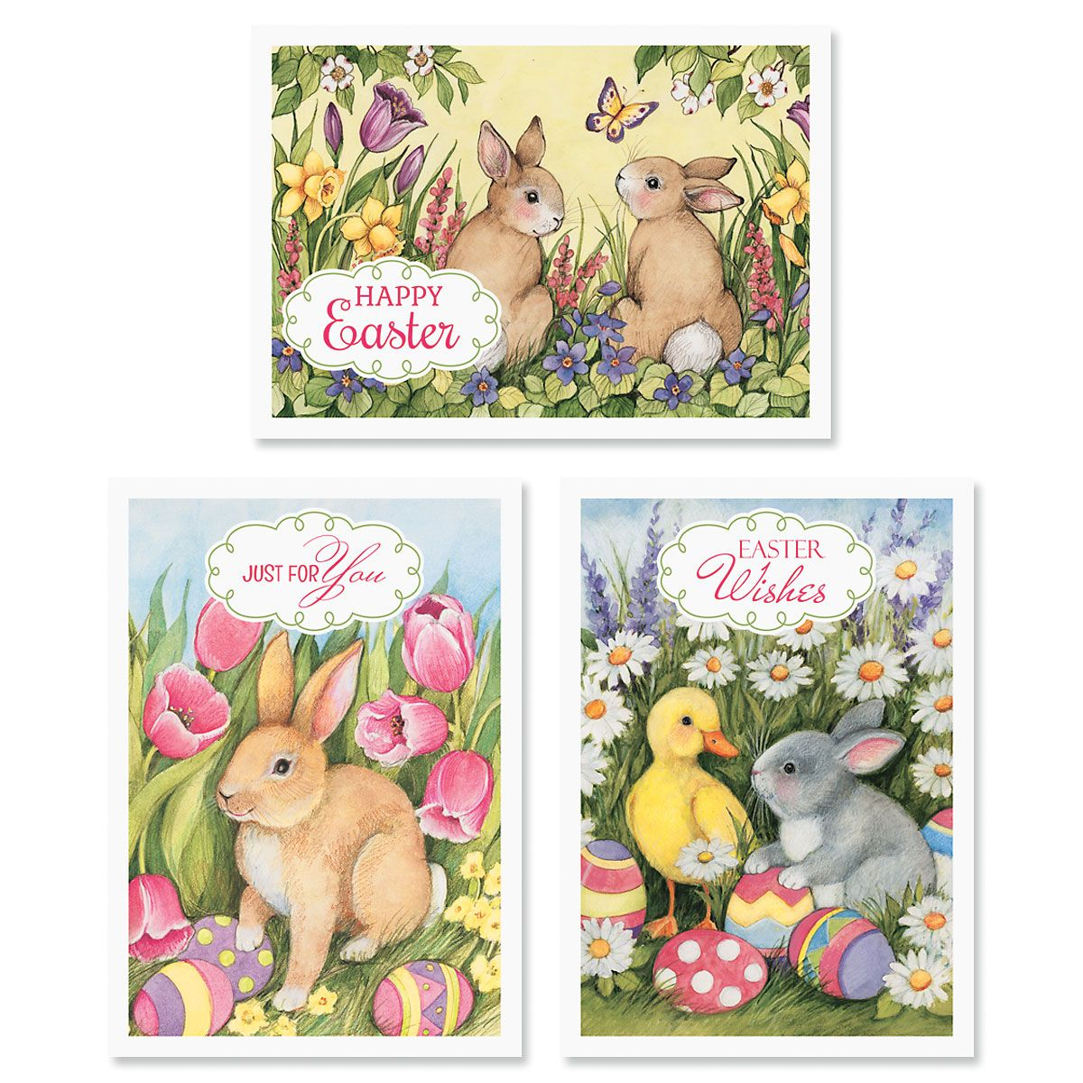 Spring Bunny Easter Cards