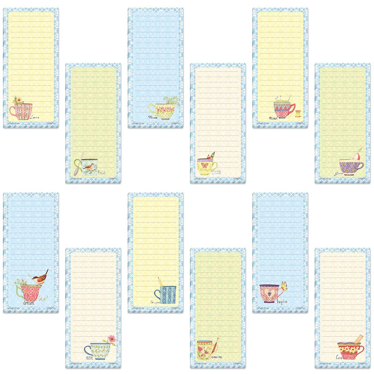 Teacups Shopping List Pads