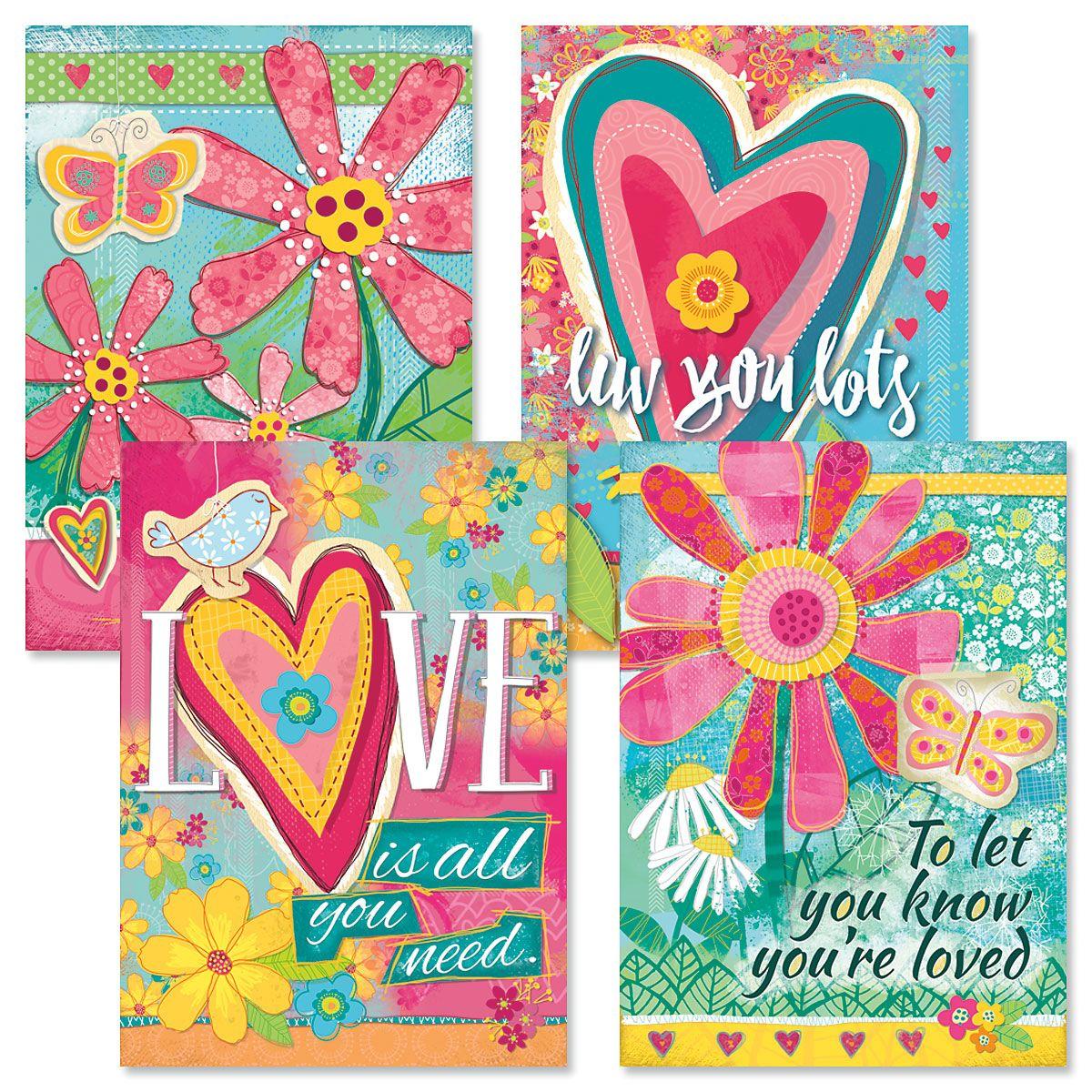 Velvet Girls Valentines Day Cards