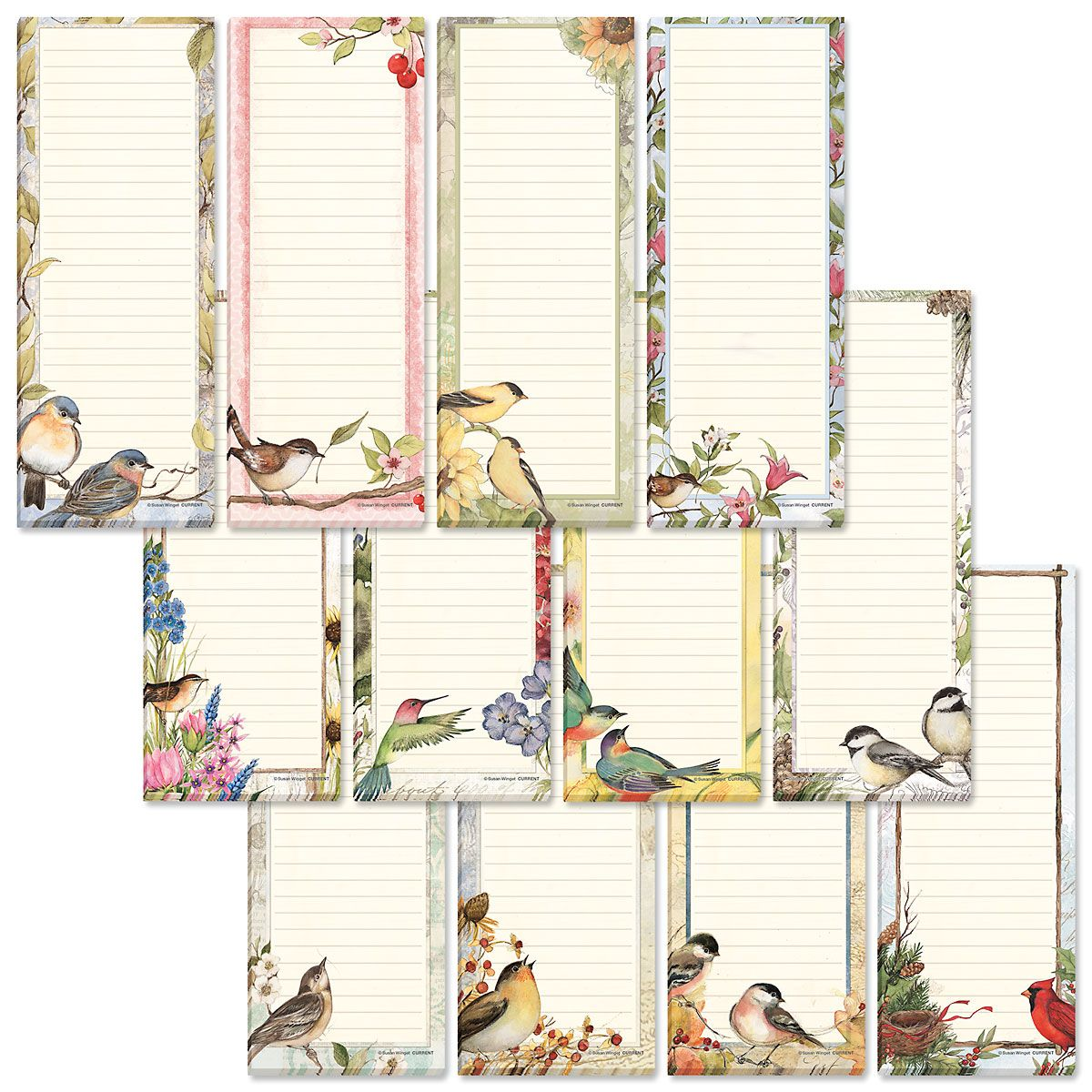 Seasonal Birds Shopping List Pads