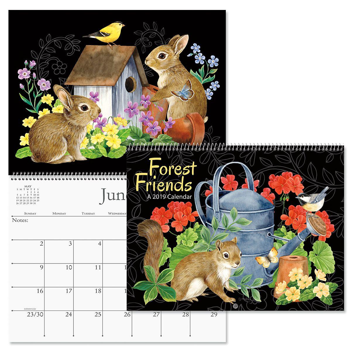 2019 Forest Friends Wall Calendar