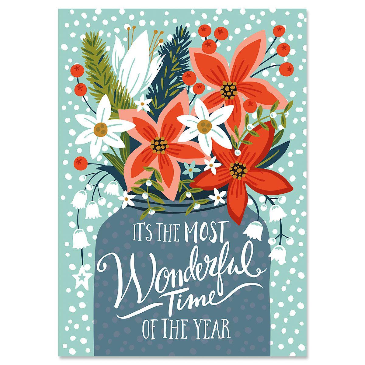 Poinsettia Christmas Cards