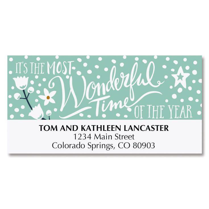 Poinsettia Deluxe Address Labels