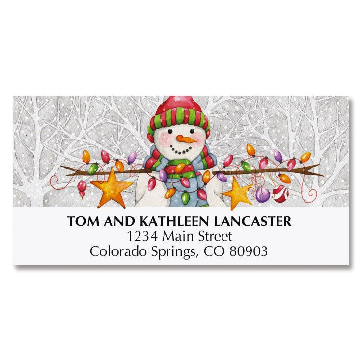 Winter Friends Deluxe Address Labels