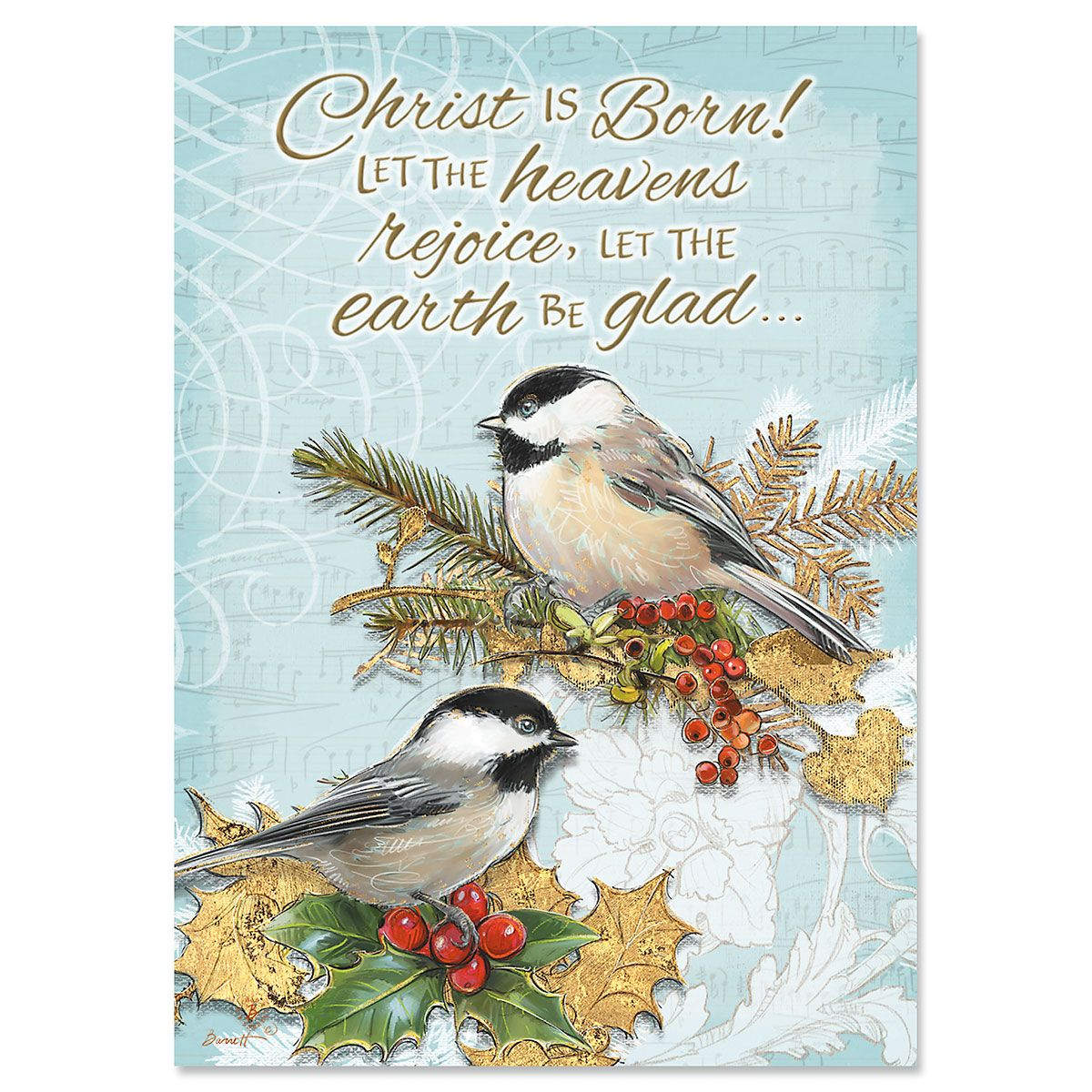 Holiday Birds Christmas Cards - Personalized