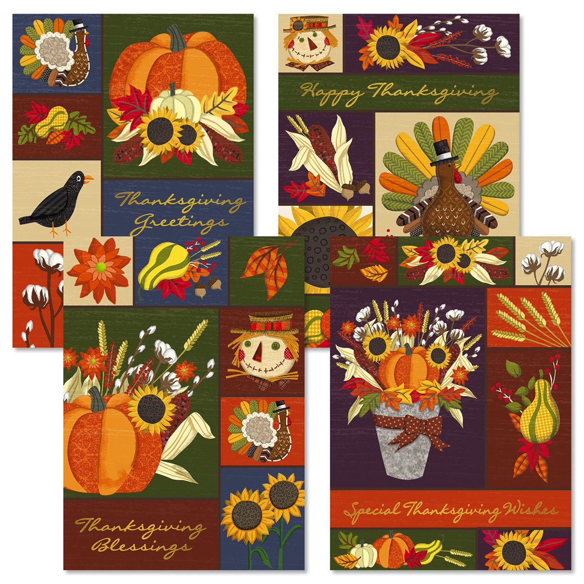 Deluxe Harvest Thanksgiving Collage Cards