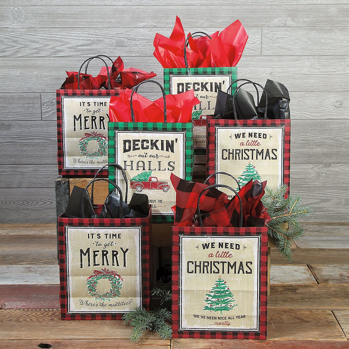 Vintage Christmas Gift Bags