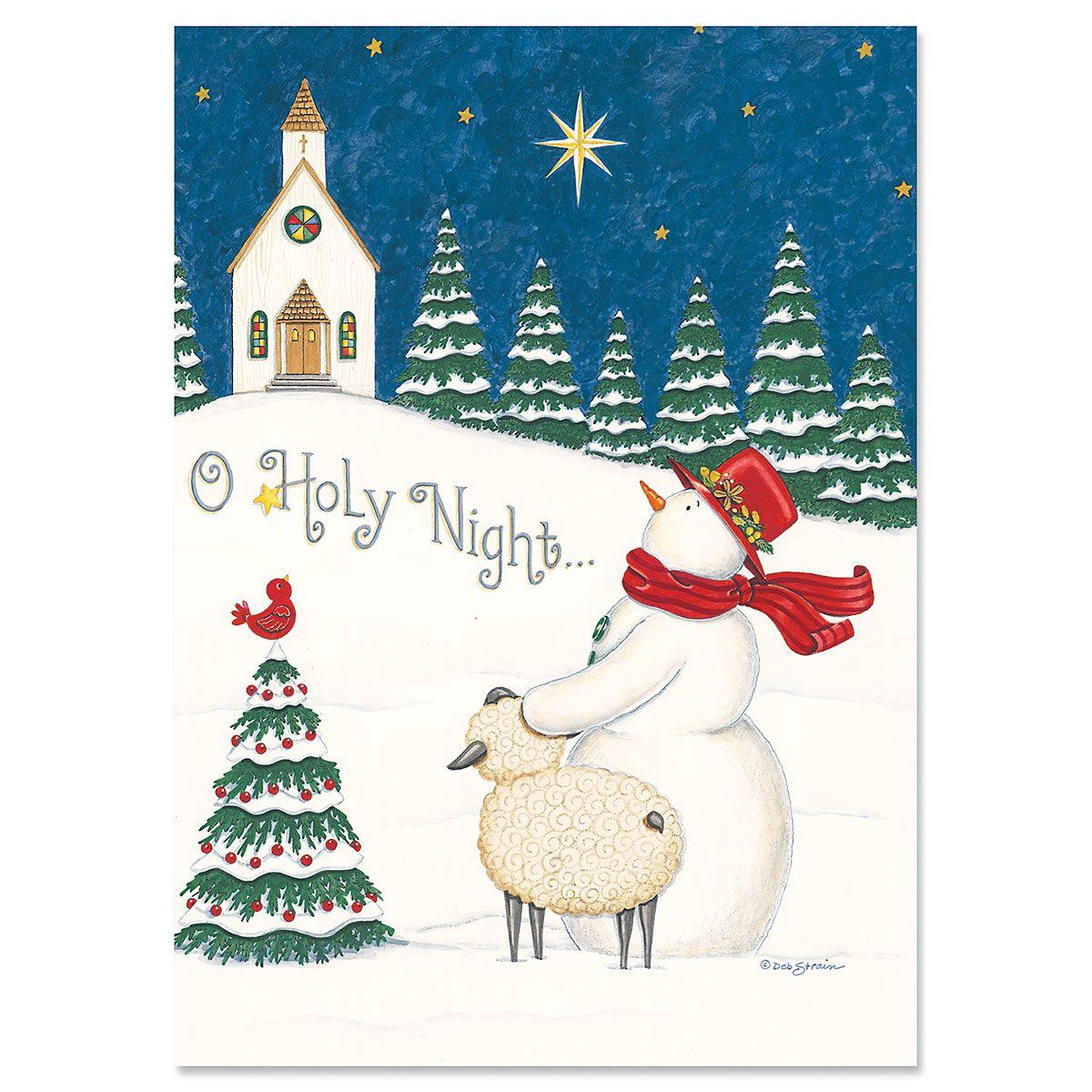 O Holy Night Religious Christmas Cards Current Catalog
