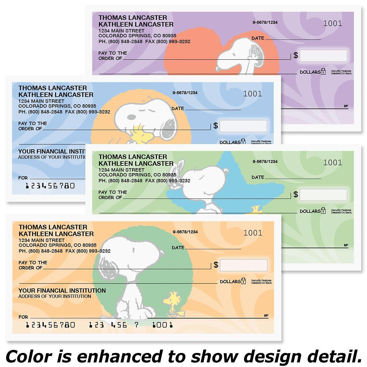 Snoopy™ & Woodstock Premium Checks
