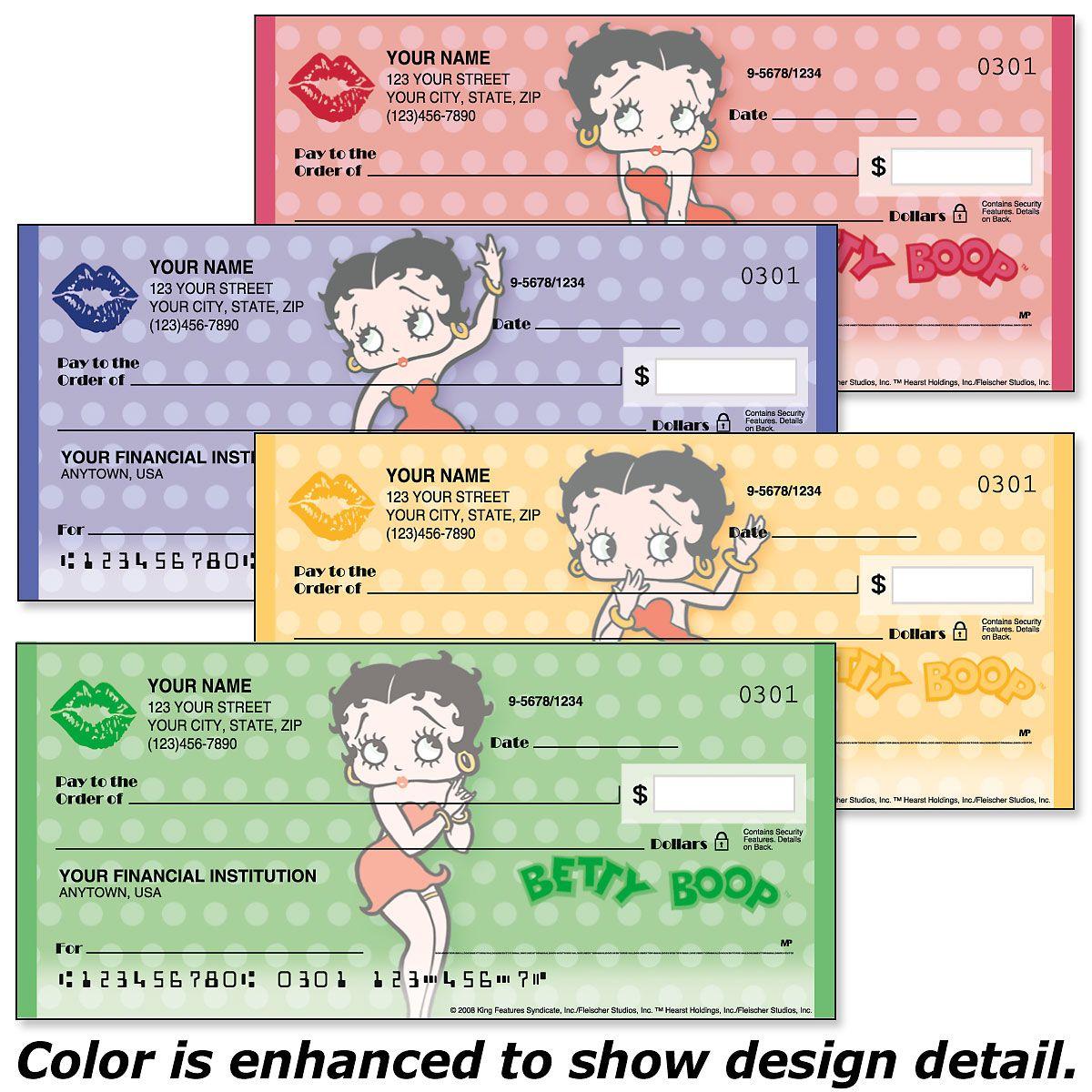 Betty Boop™ Premium Checks