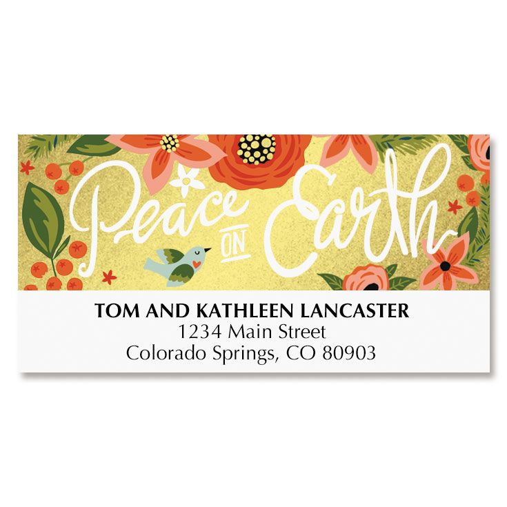 Peace on Earth Address Labels