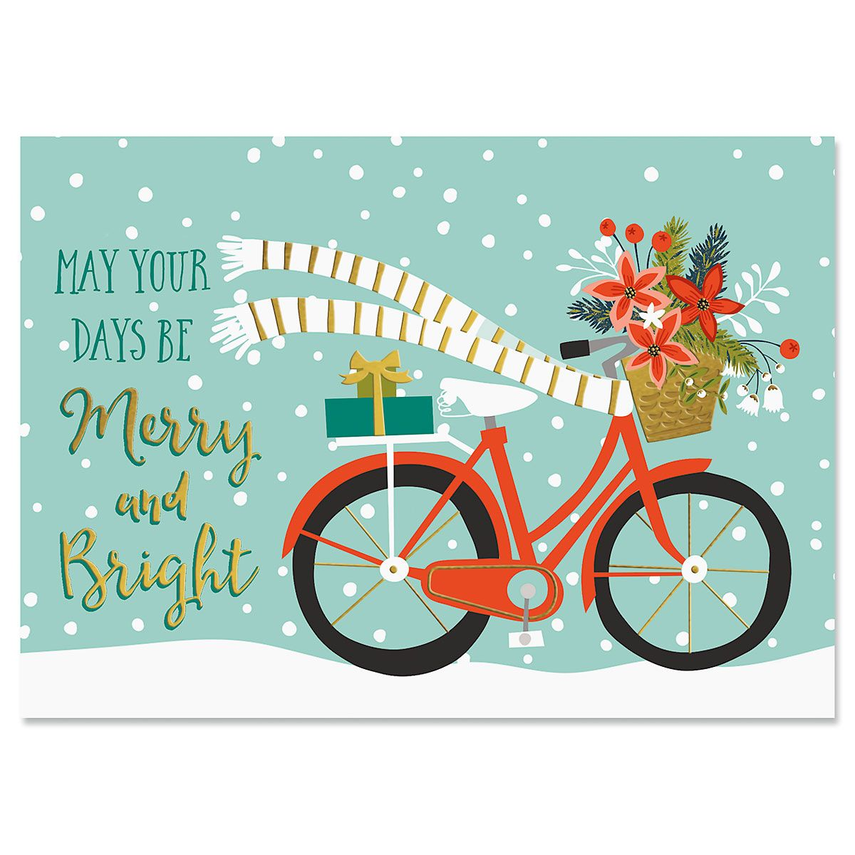 Bicycle Holiday Deluxe Foil Christmas Cards