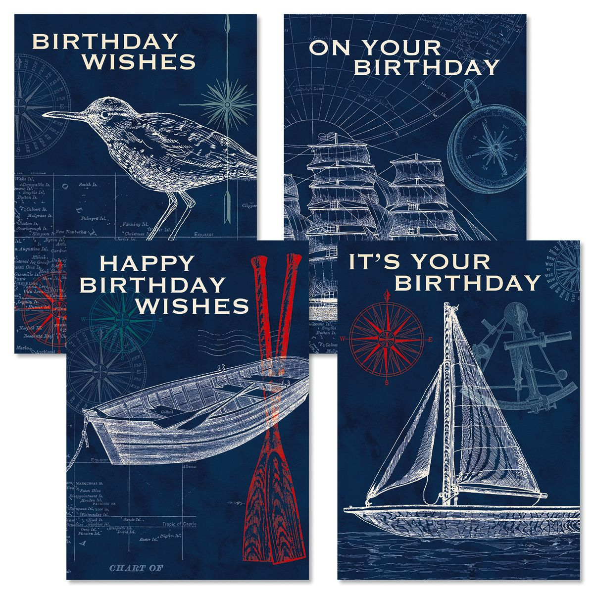 Pier 45 Birthday Cards and Seals