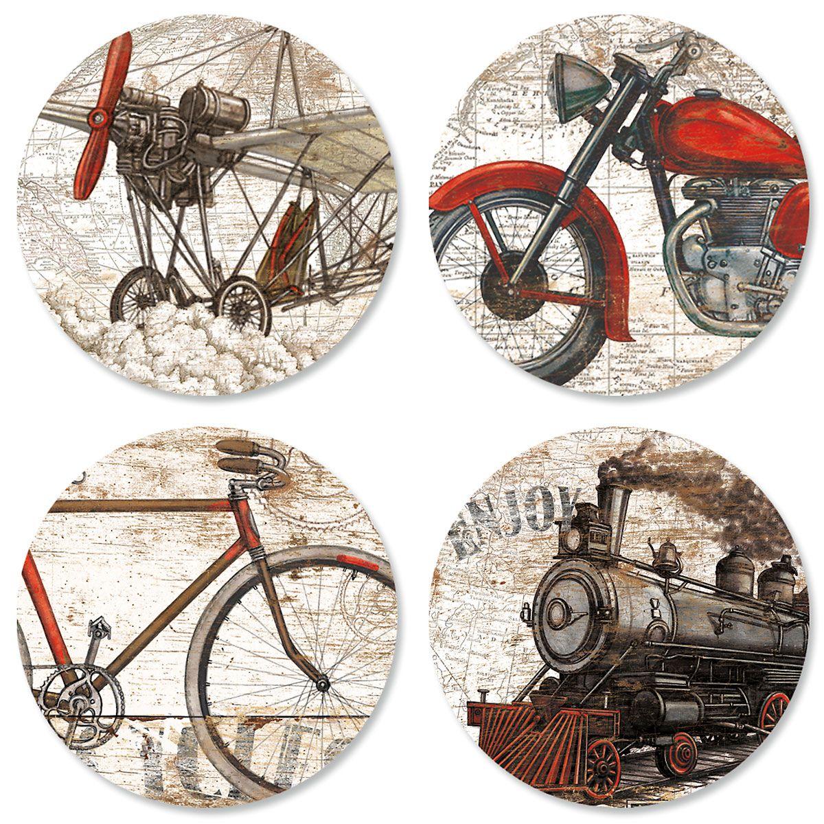 Vintage Transportation Seals (4 Designs