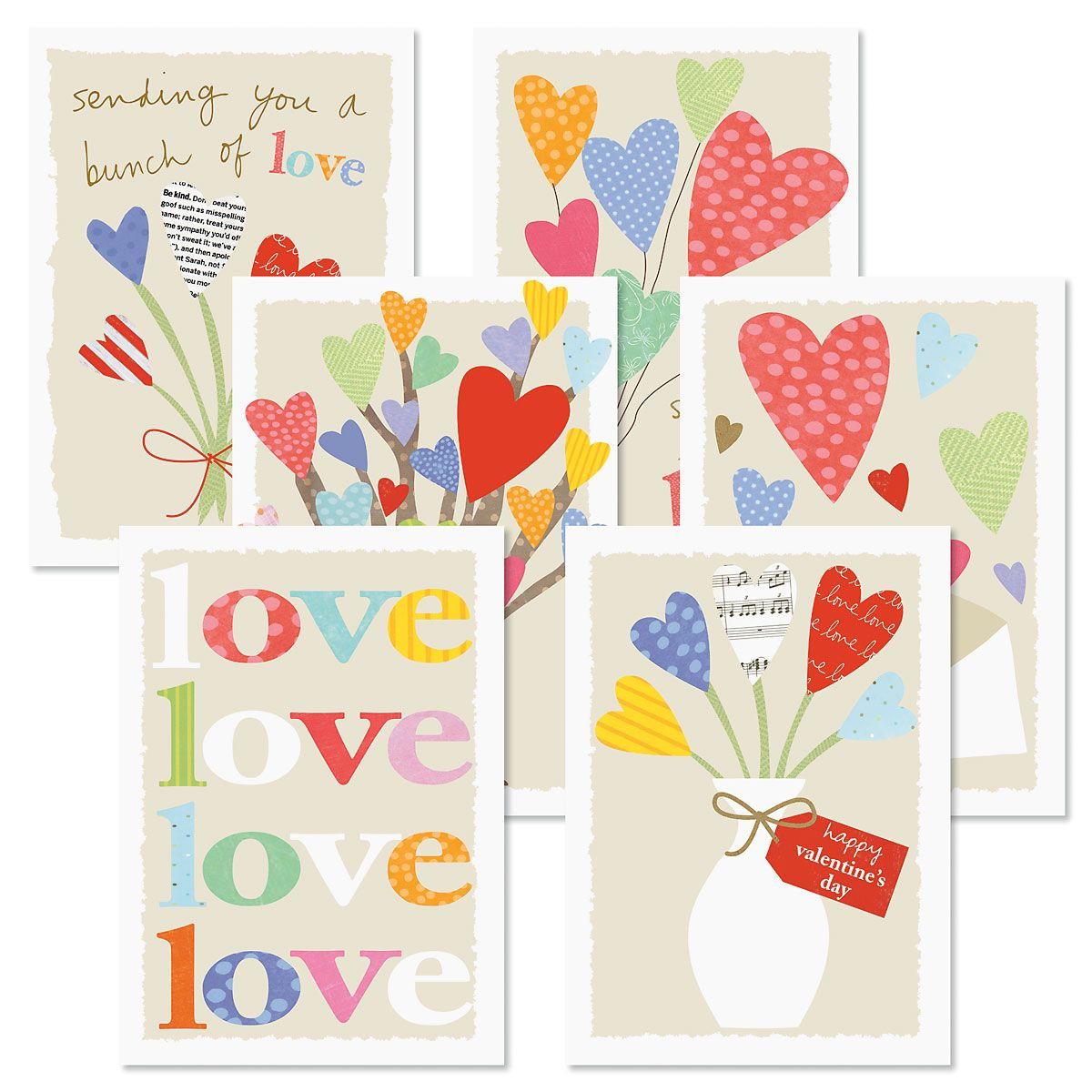 Share Love Valentines Day Cards and Seals