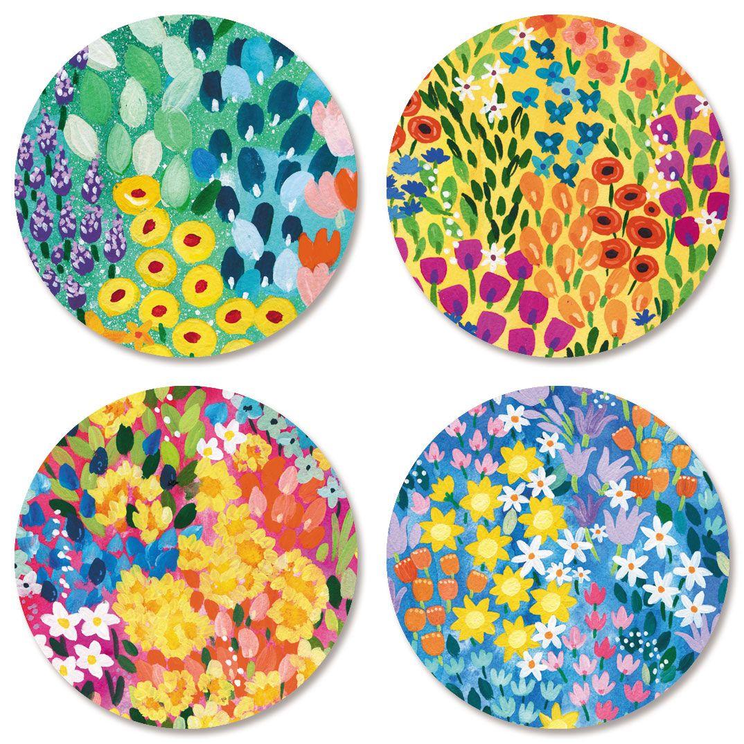 Floral Garden Seals (4 Designs)