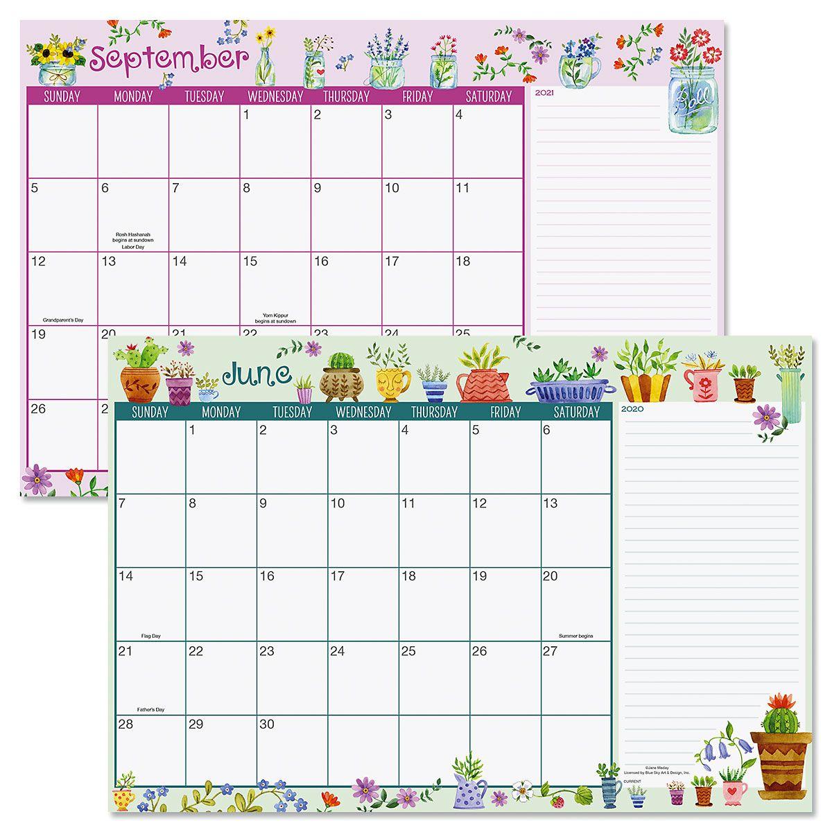 2020-2021 Whimsy Borders Calendar Pad