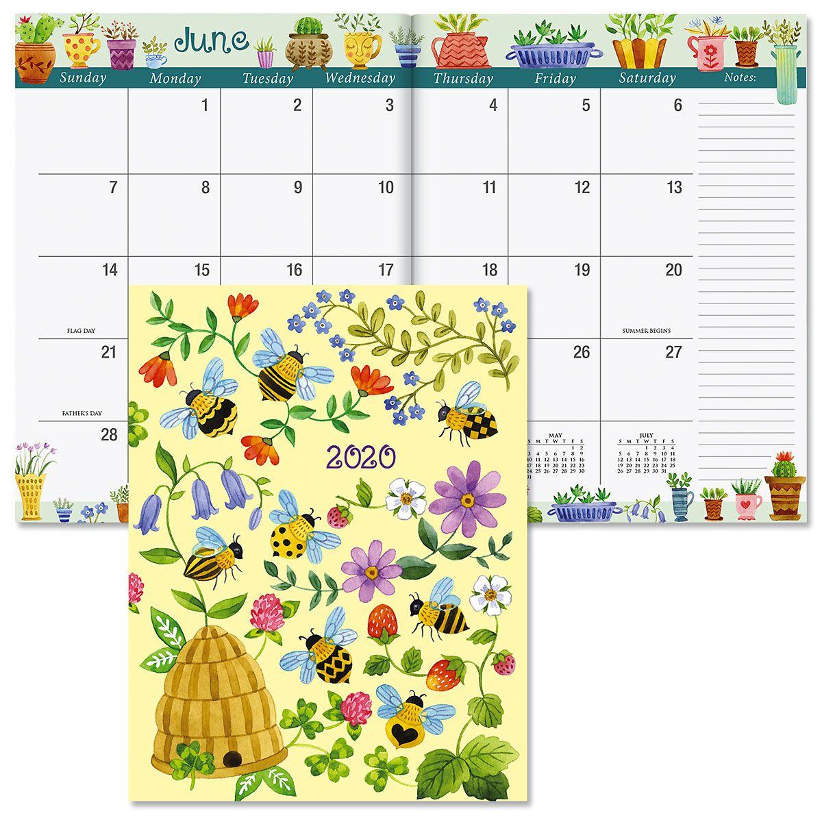 2020 Whimsy Borders Desk Calendar